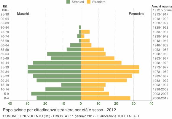 Grafico cittadini stranieri - Nuvolento 2012
