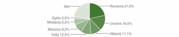 Grafico cittadinanza stranieri - Borgarello 2019