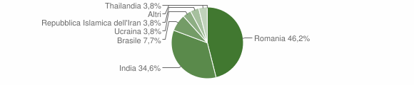 Grafico cittadinanza stranieri - Campagnola Cremasca 2019