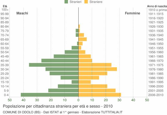 Grafico cittadini stranieri - Odolo 2010