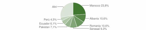 Grafico cittadinanza stranieri - Renate 2019