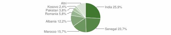 Grafico cittadinanza stranieri - Telgate 2010