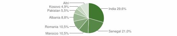 Grafico cittadinanza stranieri - Telgate 2019