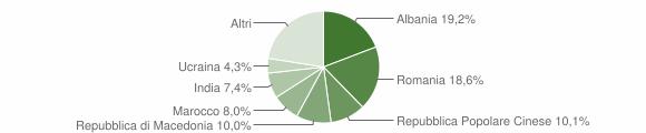 Grafico cittadinanza stranieri - Asola 2019
