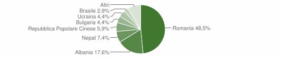 Grafico cittadinanza stranieri - Bosnasco 2019
