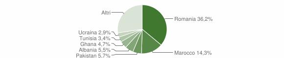 Grafico cittadinanza stranieri - Calvagese della Riviera 2013