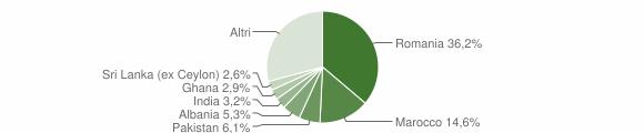 Grafico cittadinanza stranieri - Calvagese della Riviera 2016