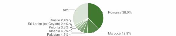 Grafico cittadinanza stranieri - Calvagese della Riviera 2018