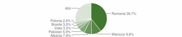 Grafico cittadinanza stranieri - Calvagese della Riviera 2019