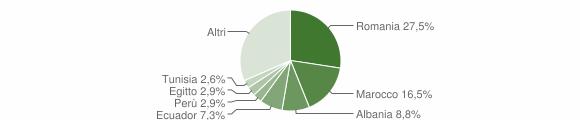 Grafico cittadinanza stranieri - Ornago 2019
