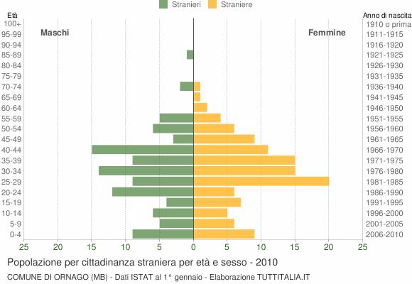 Grafico cittadini stranieri - Ornago 2010