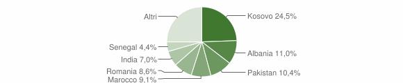 Grafico cittadinanza stranieri - Rovato 2019