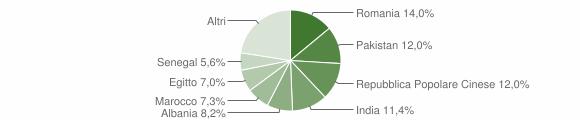 Grafico cittadinanza stranieri - Capriano del Colle 2008