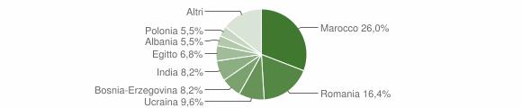 Grafico cittadinanza stranieri - Ceto 2007
