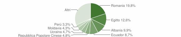 Grafico cittadinanza stranieri - Cormano 2019