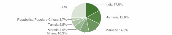 Grafico cittadinanza stranieri - Montirone 2010