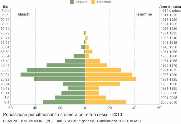 Grafico cittadini stranieri - Montirone 2010