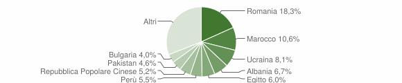 Grafico cittadinanza stranieri - Nerviano 2019