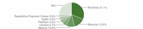 Grafico cittadinanza stranieri - Trezzo sull'Adda 2019