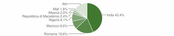 Grafico cittadinanza stranieri - Vescovato 2019