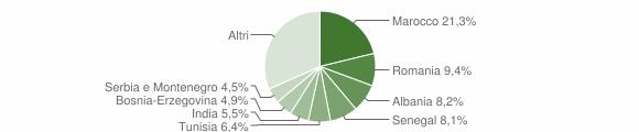 Grafico cittadinanza stranieri - Erbusco 2008