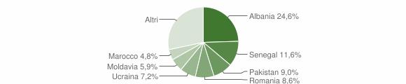 Grafico cittadinanza stranieri - Bovezzo 2008