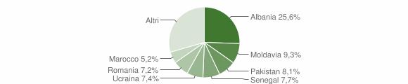 Grafico cittadinanza stranieri - Bovezzo 2010
