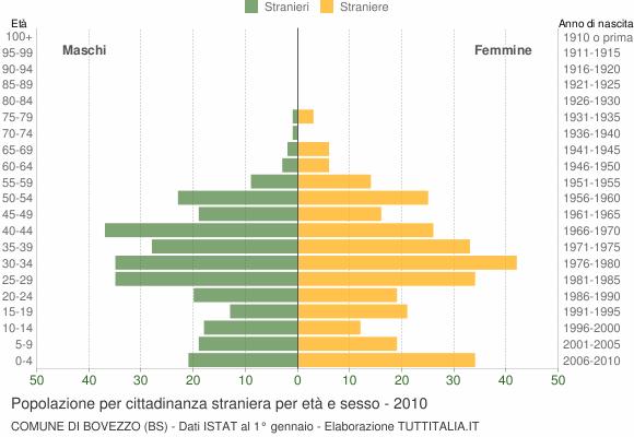 Grafico cittadini stranieri - Bovezzo 2010