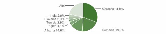 Grafico cittadinanza stranieri - Capo di Ponte 2011