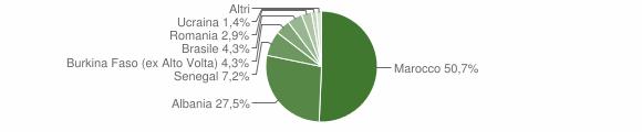 Grafico cittadinanza stranieri - Lavenone 2010