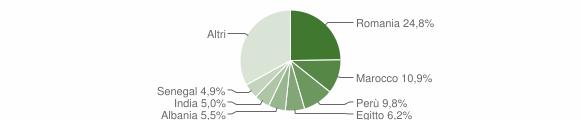 Grafico cittadinanza stranieri - Paullo 2019