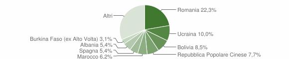 Grafico cittadinanza stranieri - Valbrembo 2019