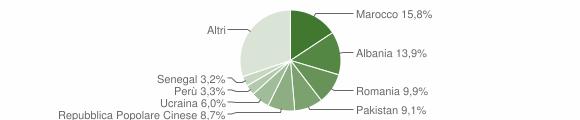 Grafico cittadinanza stranieri - Cerro Maggiore 2019