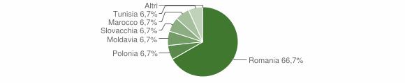 Grafico cittadinanza stranieri - Cerveno 2008