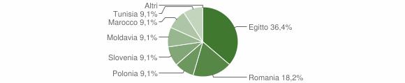 Grafico cittadinanza stranieri - Cerveno 2009