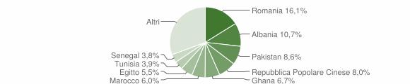 Grafico cittadinanza stranieri - Rezzato 2008