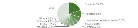 Grafico cittadinanza stranieri - Rezzato 2017