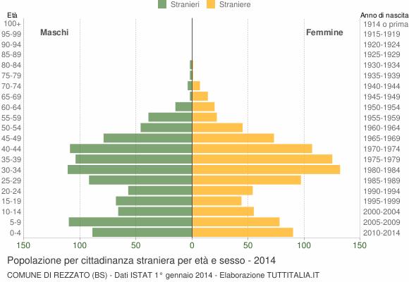 Grafico cittadini stranieri - Rezzato 2014