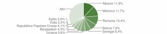 Grafico cittadinanza stranieri - Treviolo 2019