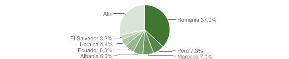 Grafico cittadinanza stranieri - Basiano 2018