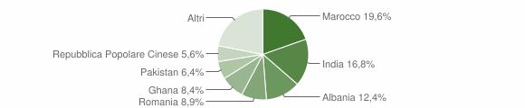 Grafico cittadinanza stranieri - Ghedi 2010