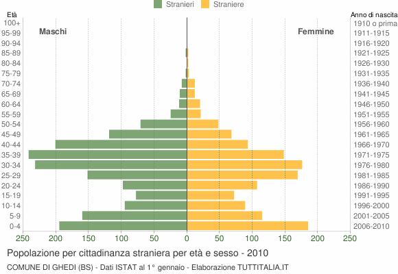 Grafico cittadini stranieri - Ghedi 2010