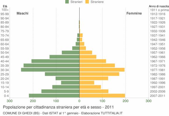 Grafico cittadini stranieri - Ghedi 2011