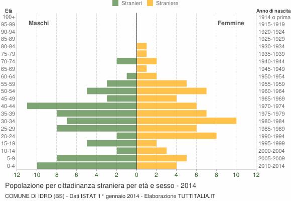 Grafico cittadini stranieri - Idro 2014