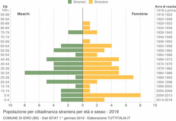 Grafico cittadini stranieri - Idro 2019