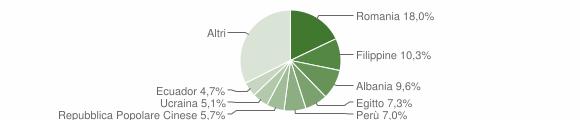 Grafico cittadinanza stranieri - Vimodrone 2019