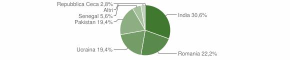 Grafico cittadinanza stranieri - Berzo Demo 2008