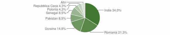 Grafico cittadinanza stranieri - Berzo Demo 2010