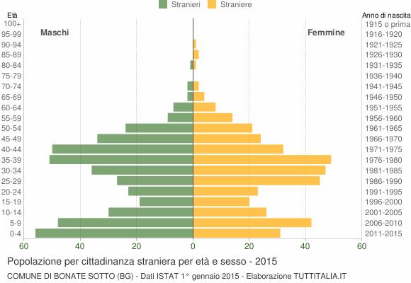 Grafico cittadini stranieri - Bonate Sotto 2015