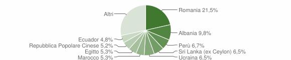 Grafico cittadinanza stranieri - Brugherio 2017